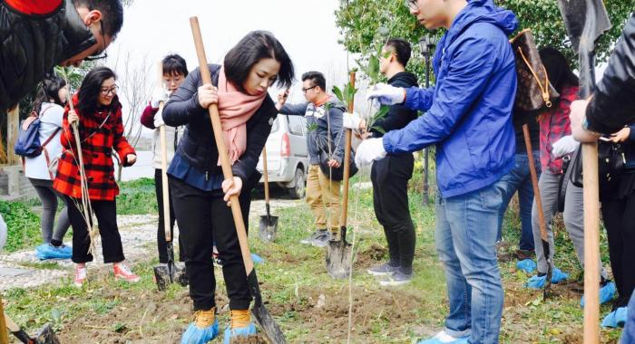 Tree-Planting Event in Shanghai