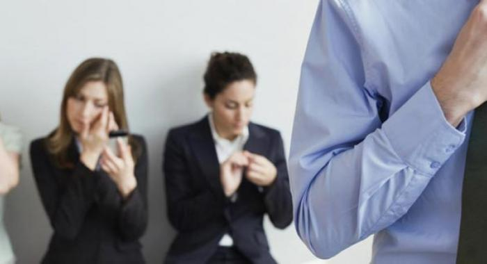 professionals preparing for interview